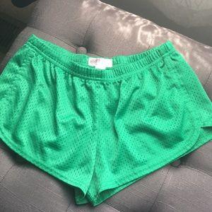 Green Soffe shorts